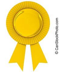 Blank award ribbon rosette. - Blank award ribbon rosette...