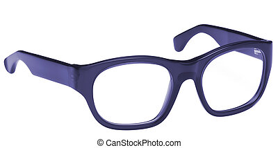 blue glasses isolated on a white background