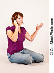 telephone 2 - a young lady is on the phone