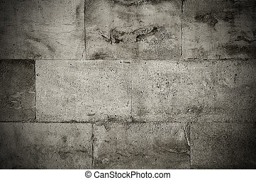 Stone blocks - Old weathered vintage stone tiles wall grunge...
