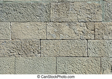 Stone blocks - Old weathered stone blocks wall vintage...