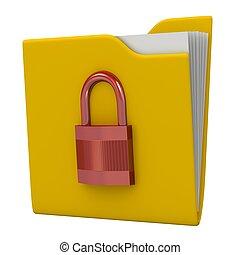 Data security concept.