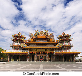 classic Chinese temple - Religious building of classic...