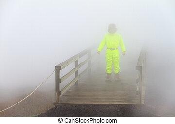Steamy tourist