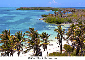 isla contoy sand in mexico froath drop sunny wave - blue...
