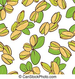 pistachio - vector seamless wallpaper with a picture of...