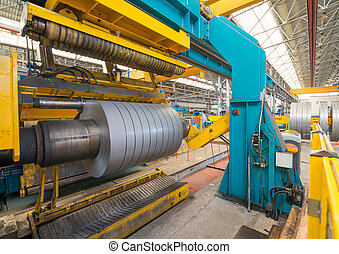 Industrial machine for steel coils cut
