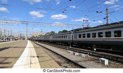Train on Kazansky railway terminal
