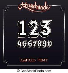 Retro Vintage Label Numbers
