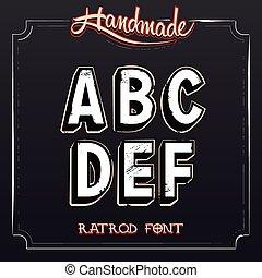 Retro Vintage Label Alphabet