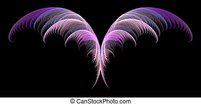 Delicate Fairy Wings - Delicate abstract fairy wings over...