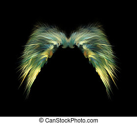 Feathery Angel Wings - Delicate abstract fairy wings over...
