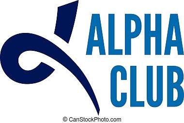 Alpha letter symbol - Blue alpha letter symbol logo template...