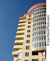 house - A modern apartments building viewed from an vinnitsa...
