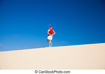 amateur Christmas in the dunes photoshoot