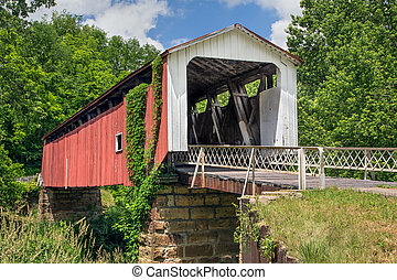 Historic Hills Covered Bridge - Also known as the Hildreth...