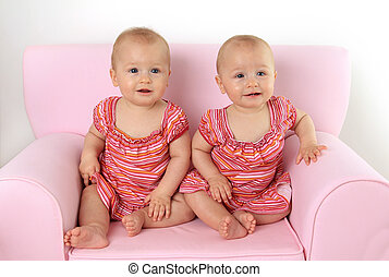 Twin baby girls - Identical 10 month old twin baby girls...