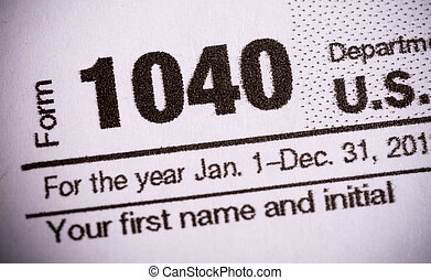 Form 1040 United States tax form close-up