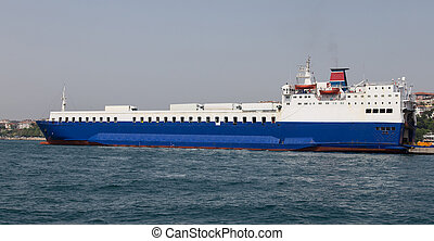 Roro Ship is loading in a Port