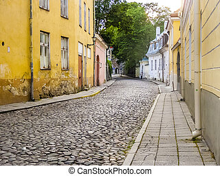 Scenic summer view of the Old Town in Tallinn, Estonia