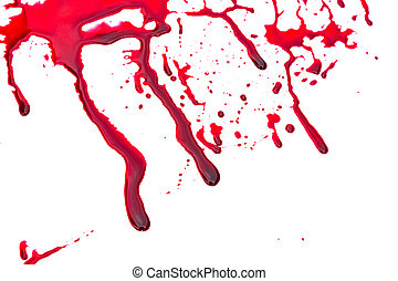 Halloween concept : Blood dripping