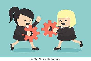 Businesswoman Teamwork