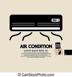 Air Condition. - Air Condition Graphic Vector Illustration.