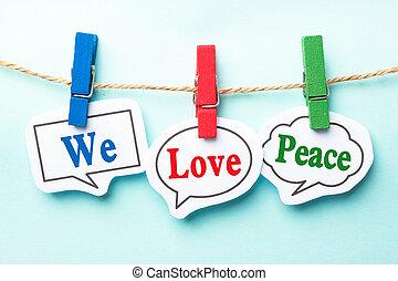 nosotros, amor, paz,