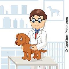 Cartoon veterinary - Vector illustration of veterinary...