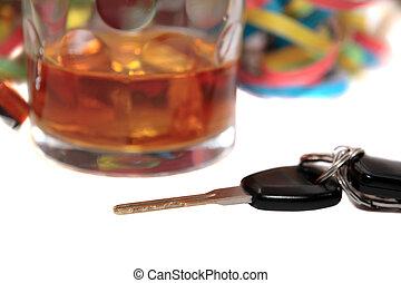 llaves, coche, licor, duro