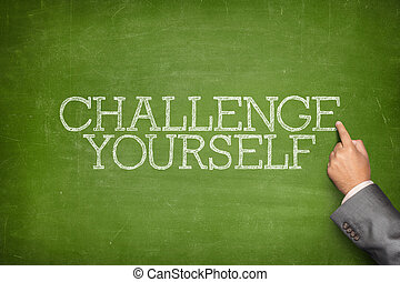Challenge yourself text on blackboard