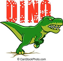 Dino - vector illustration of running dino.