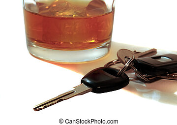 llaves, whisky, escocés, coche