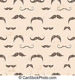 Vintage seamless texture with moustaches