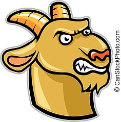 Goat Head - A vector illustration of goat head. EPS vector...