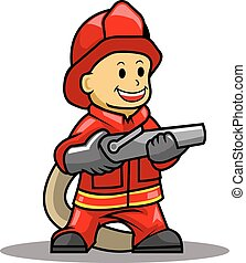 Fire Fighter - A vector illustration of fire fighter .