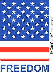 Freedom US Flag Badge - Simple badge for United States...