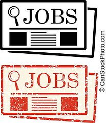 Job Search newspaper grunge vector eps 10