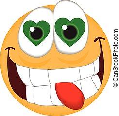 Love Struck Emoticon - A vector Love Struck Emoticon