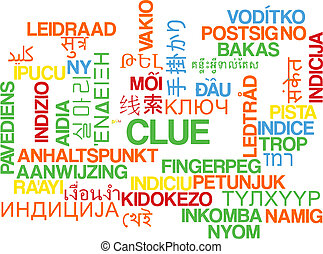 Clue multilanguage wordcloud background concept - Background...