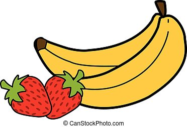 Bananas & Strawberries Vector