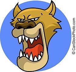 Puma Head - Big brown puma head