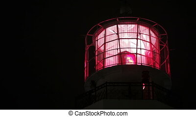 Lighthouse at night - Working lighthouse on Boulevard in...