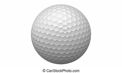 Rotating golf ball with alpha mask
