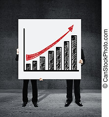 poster with growth chart