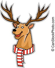 Rudolf Head - vector illustration of rudolf head