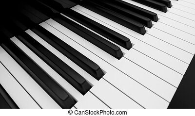 Piano keyboard loop