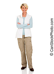 senior woman with arms crossed