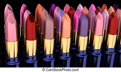 Lipsticks 3D animation