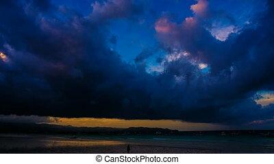 Amazing sunrise time lapse